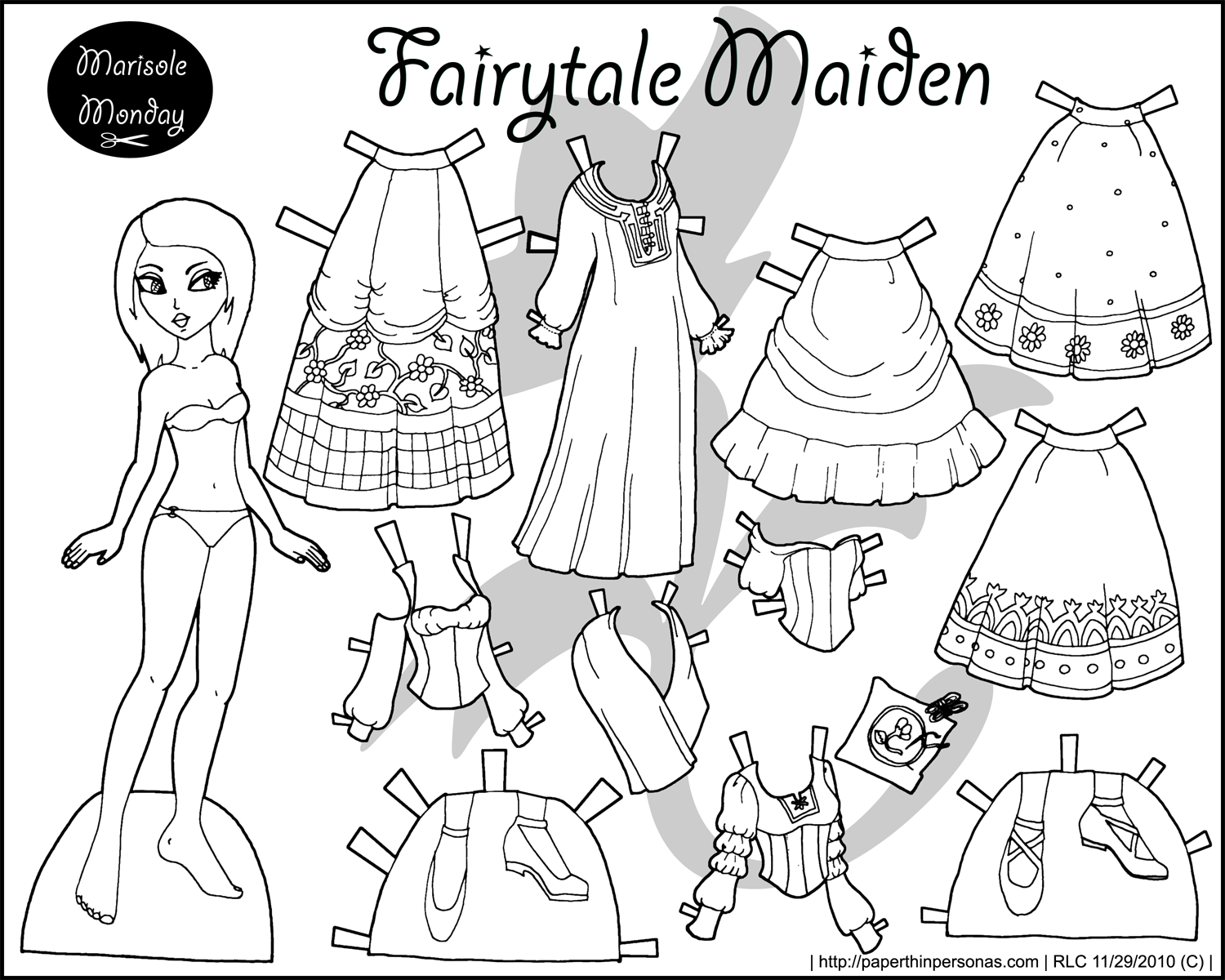 Clothes Coloring Pages Barbie Coloring Pages Free Download Best Of ... | 1200x1500