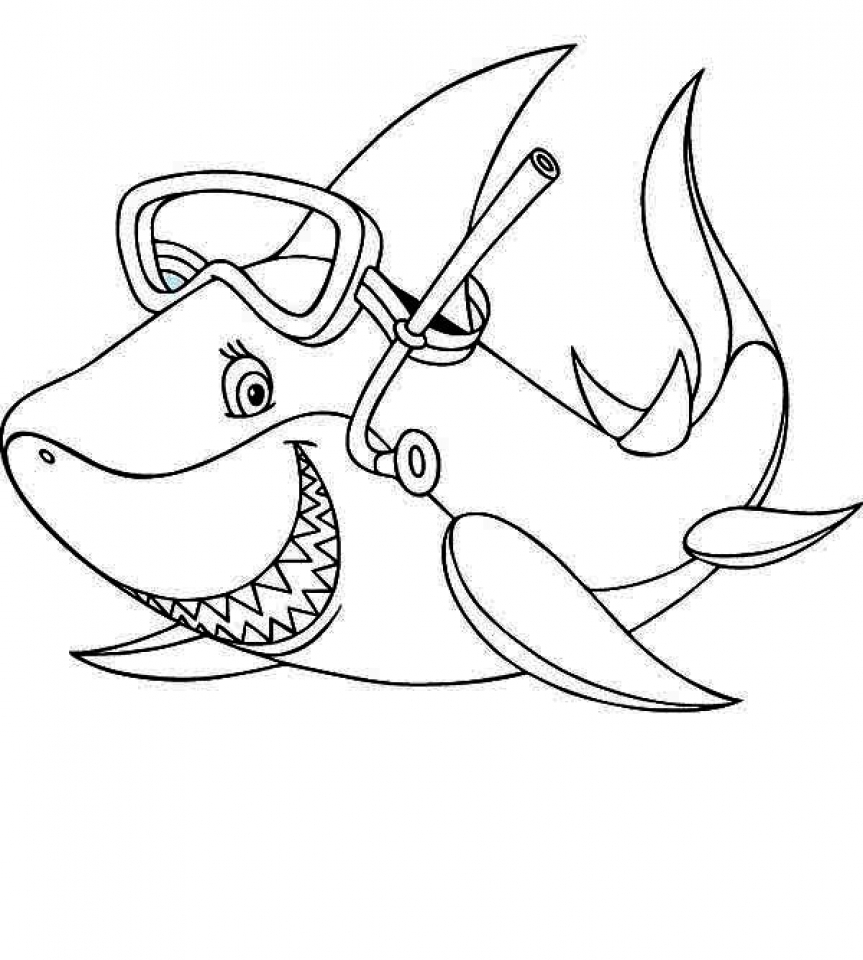Baby Shark Coloring Pages - Coloring Home