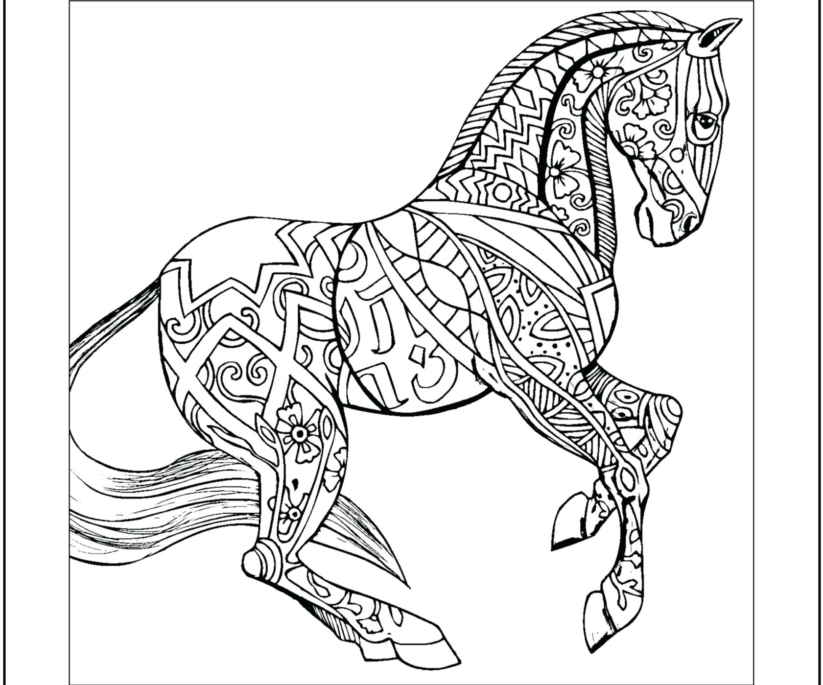 Draft Horse Coloring Pages - Coloring Home