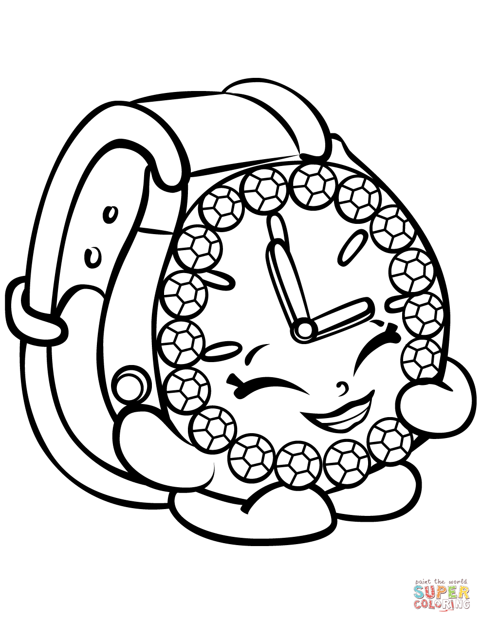 Watch Coloring Pages Coloring Home