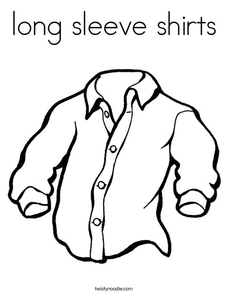 long sleeve shirts Coloring Page - Twisty Noodle