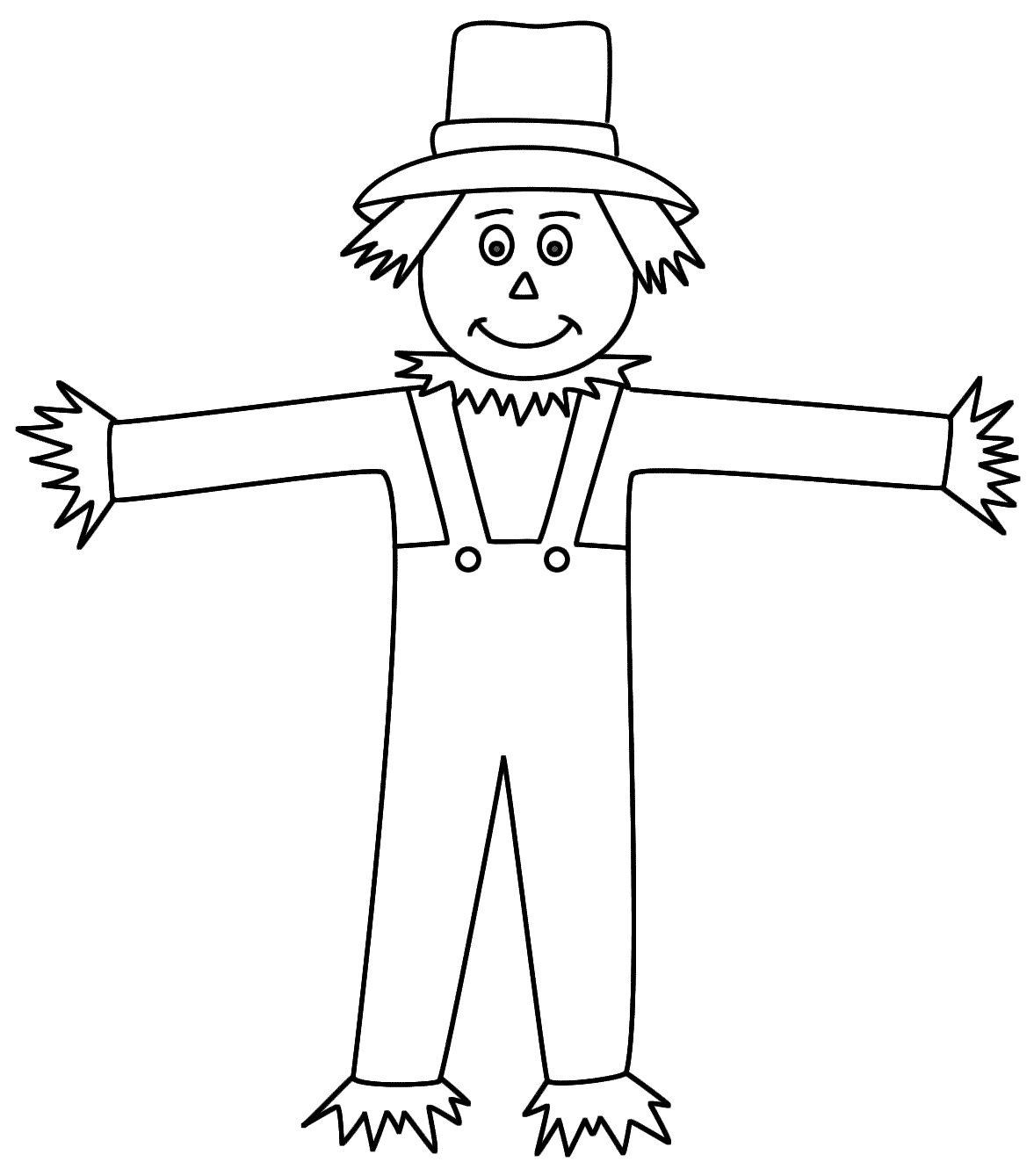 Scarecrow images coloring pages coloring home for Printable scarecrow coloring pages