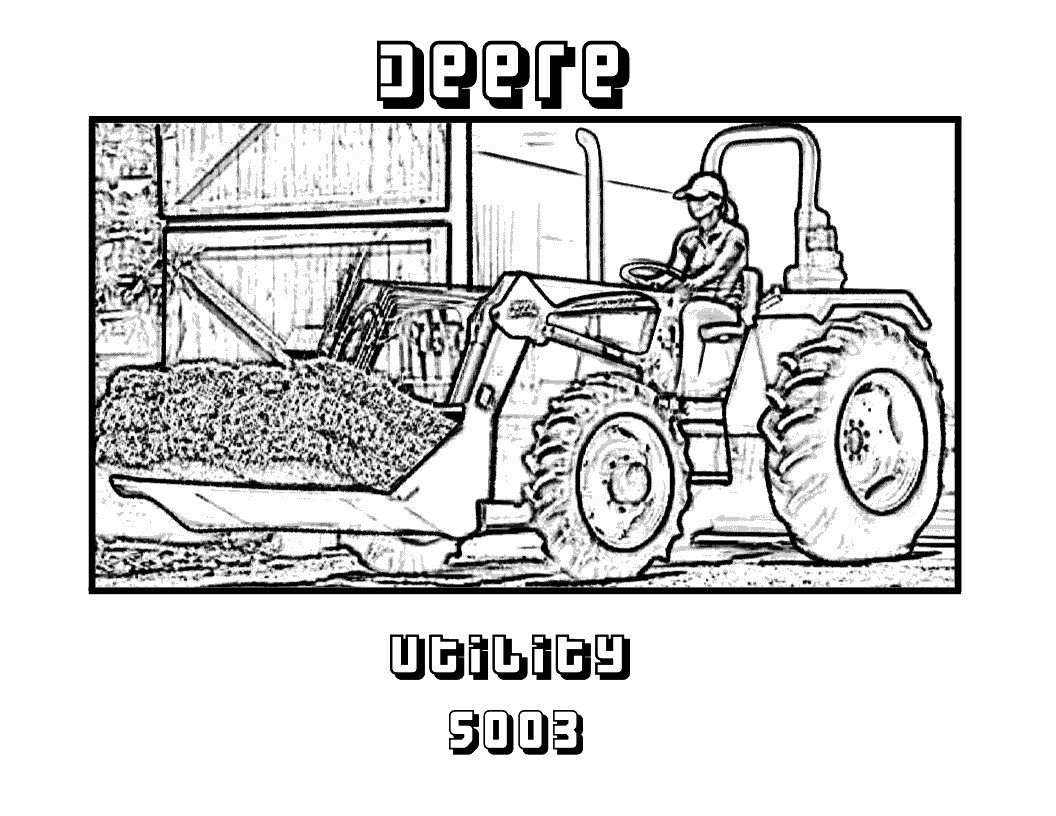 14 tractor coloring page - Print Color Craft | 816x1056