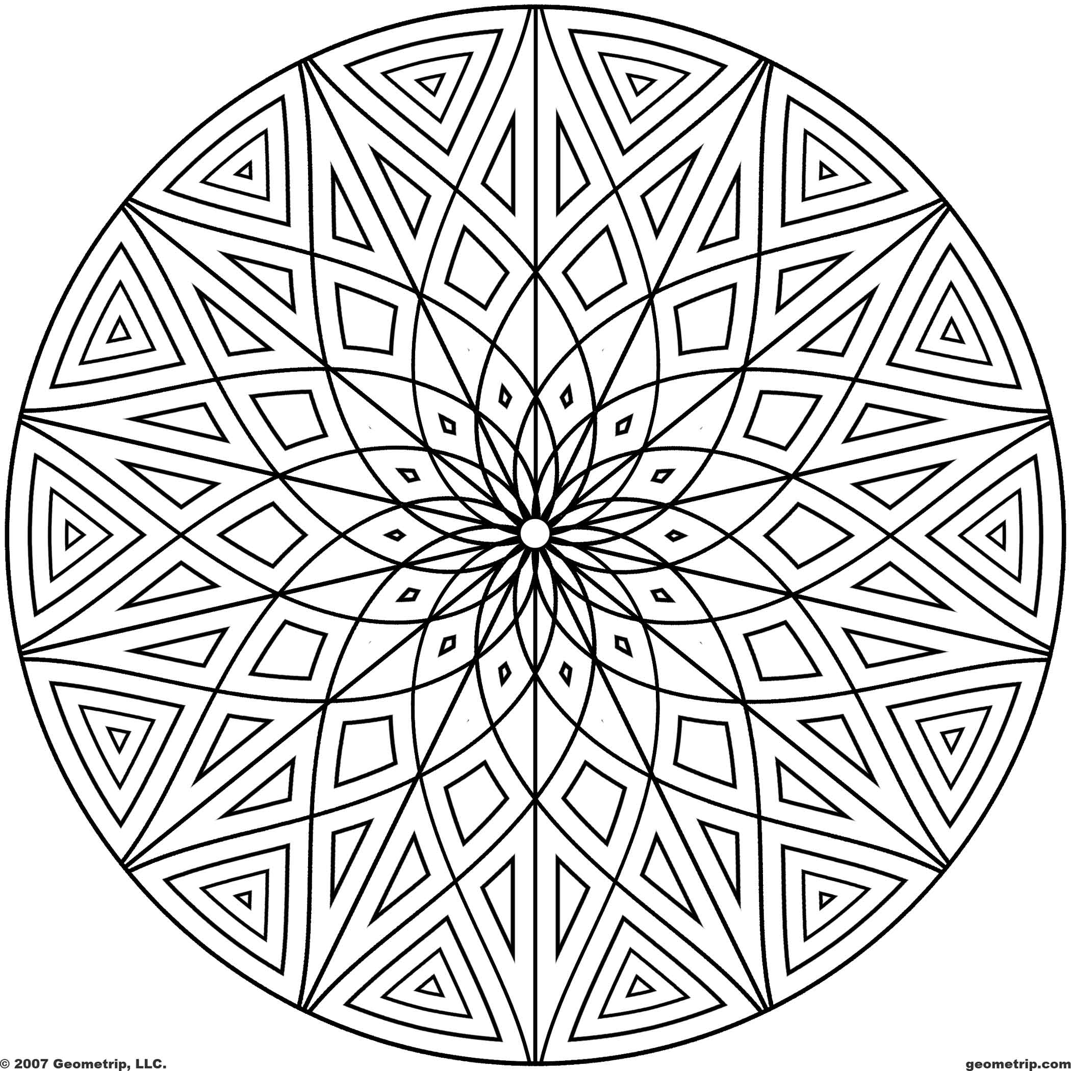 Geometric design coloring page coloring home for Geometric coloring pages to print