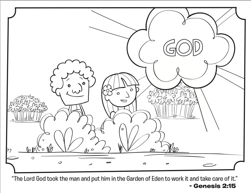 Coloring Pages Bible Pdf : Adam and eve bible coloring page home
