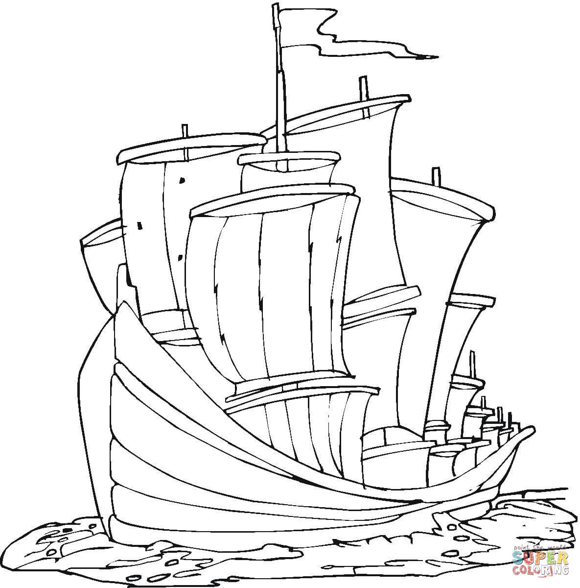 santa maria ship coloring pages coloring home