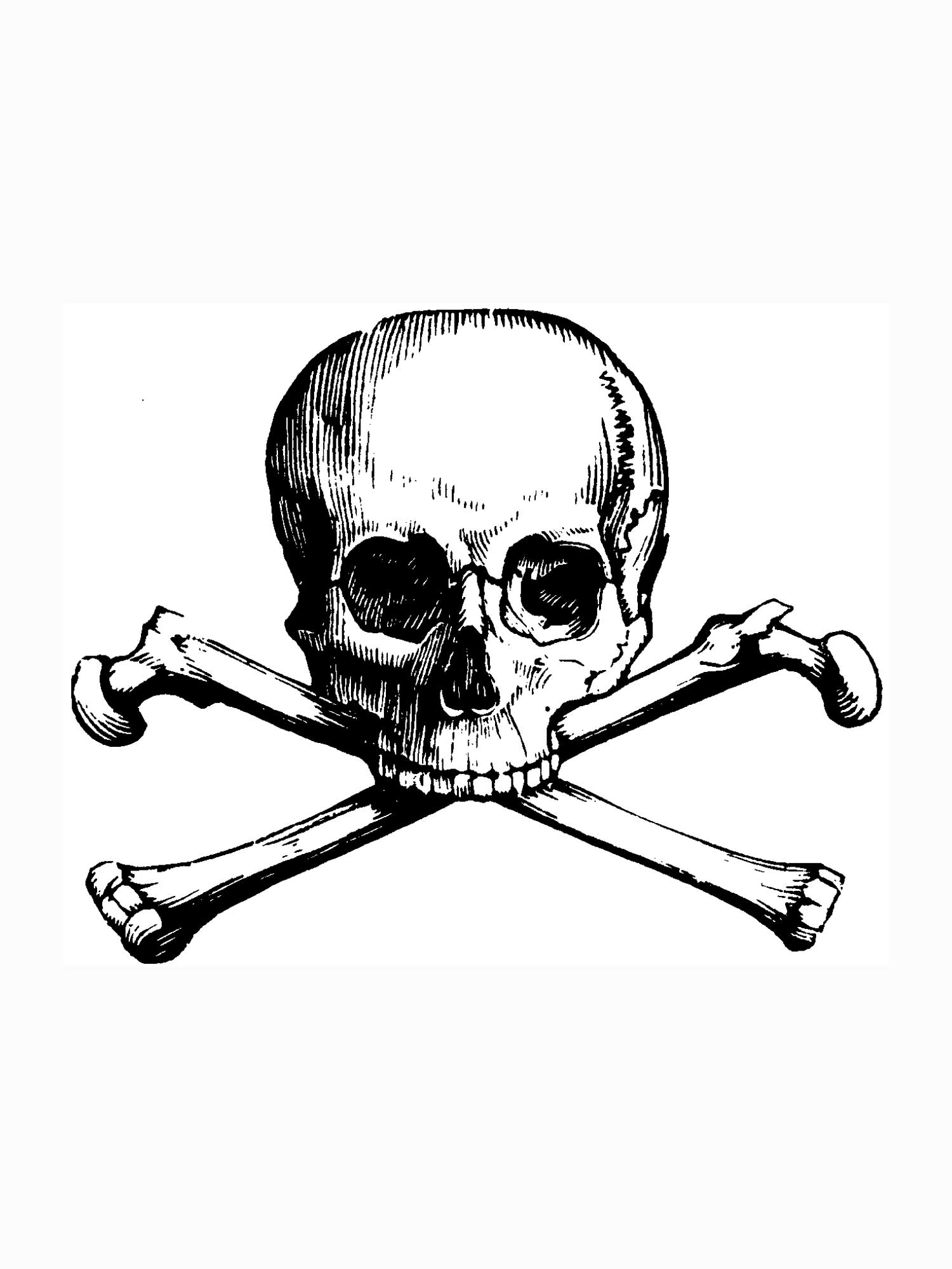 Skull And Crossbone Coloring Page - Coloring Home