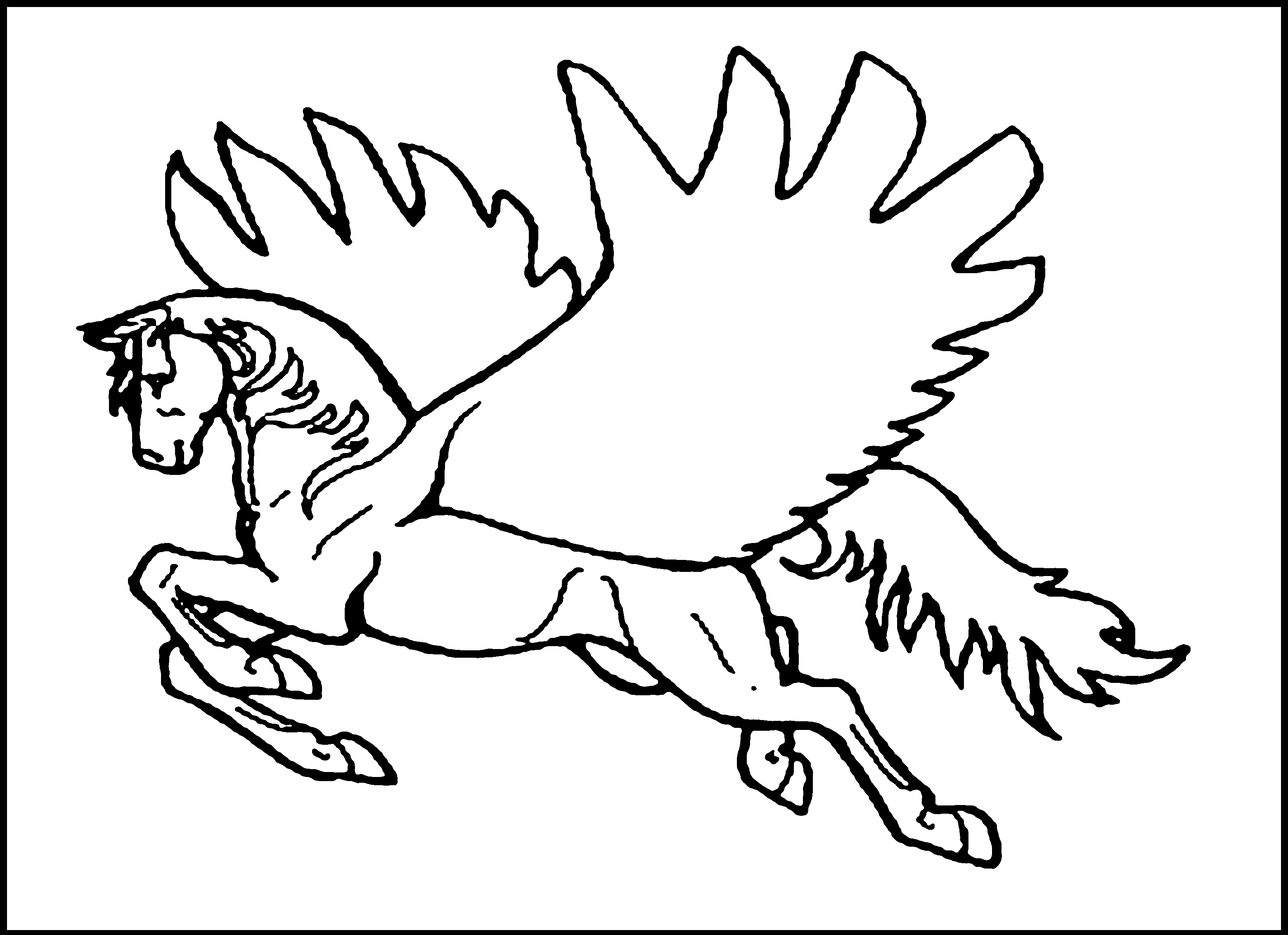 Coloring Pages Unicorn With Wings : Free pegasus coloring pages home