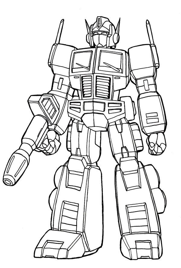 Transformer optimus prime coloring pages coloring home - Optimus prime dessin ...