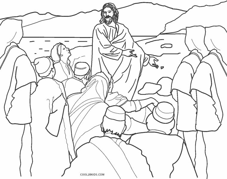 Free Printable Jesus Coloring Pages For Kids Cool2bKids - Coloring Home