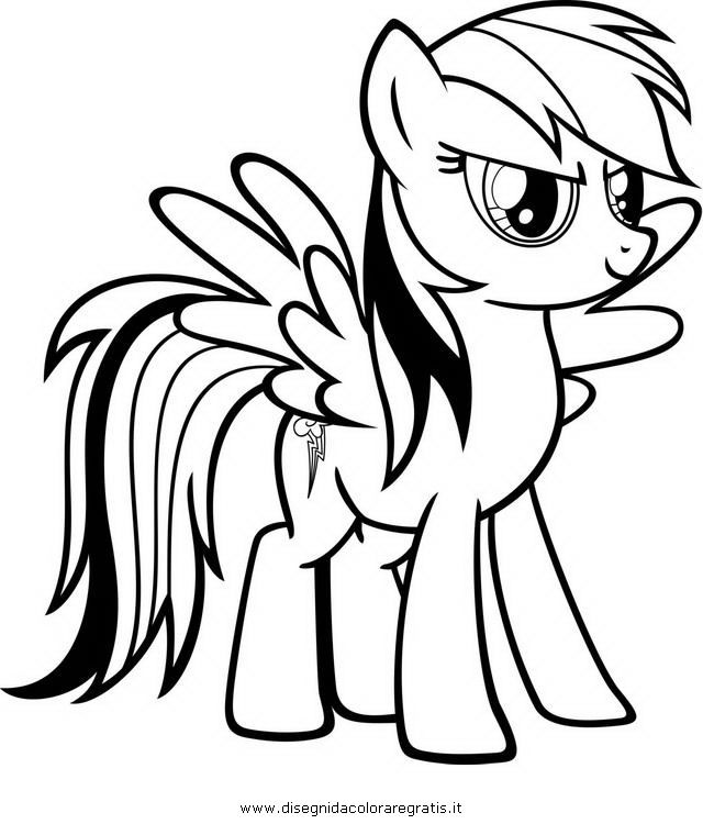 Coloring pages of rainbow dash coloring home - Pony da colorare in immagini ...