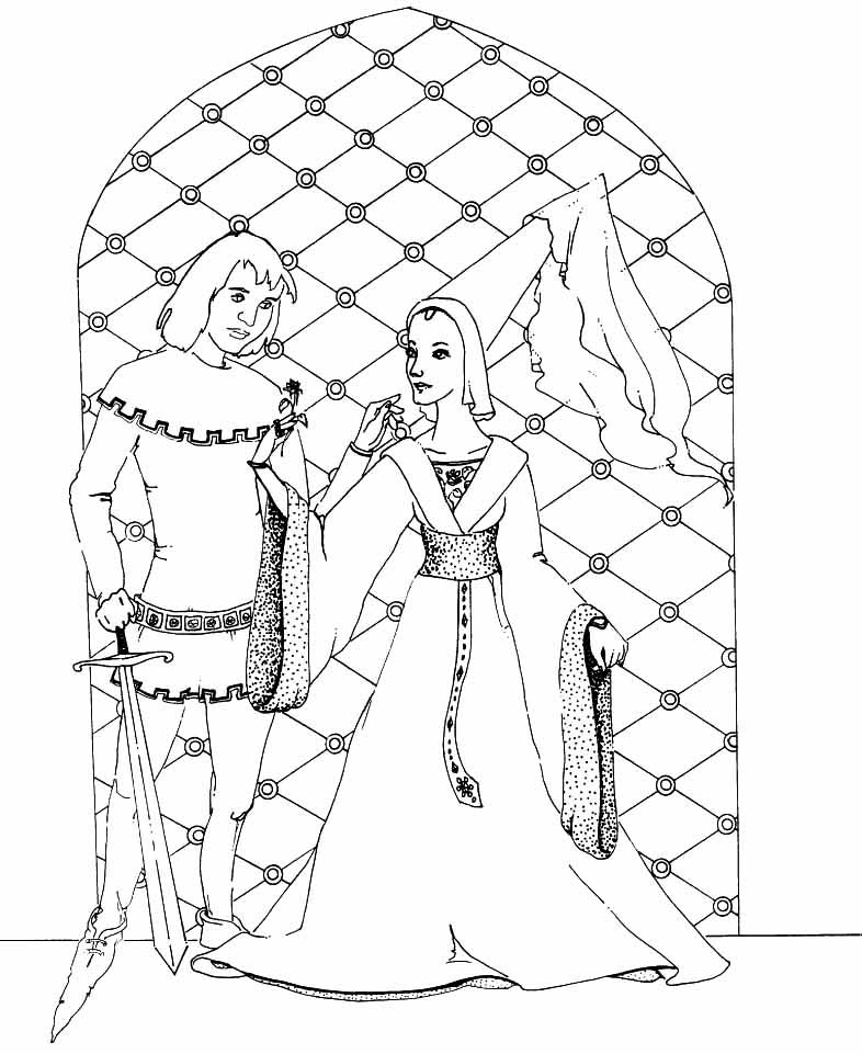 medieval knight coloring pages - medieval princess coloring pages az coloring pages