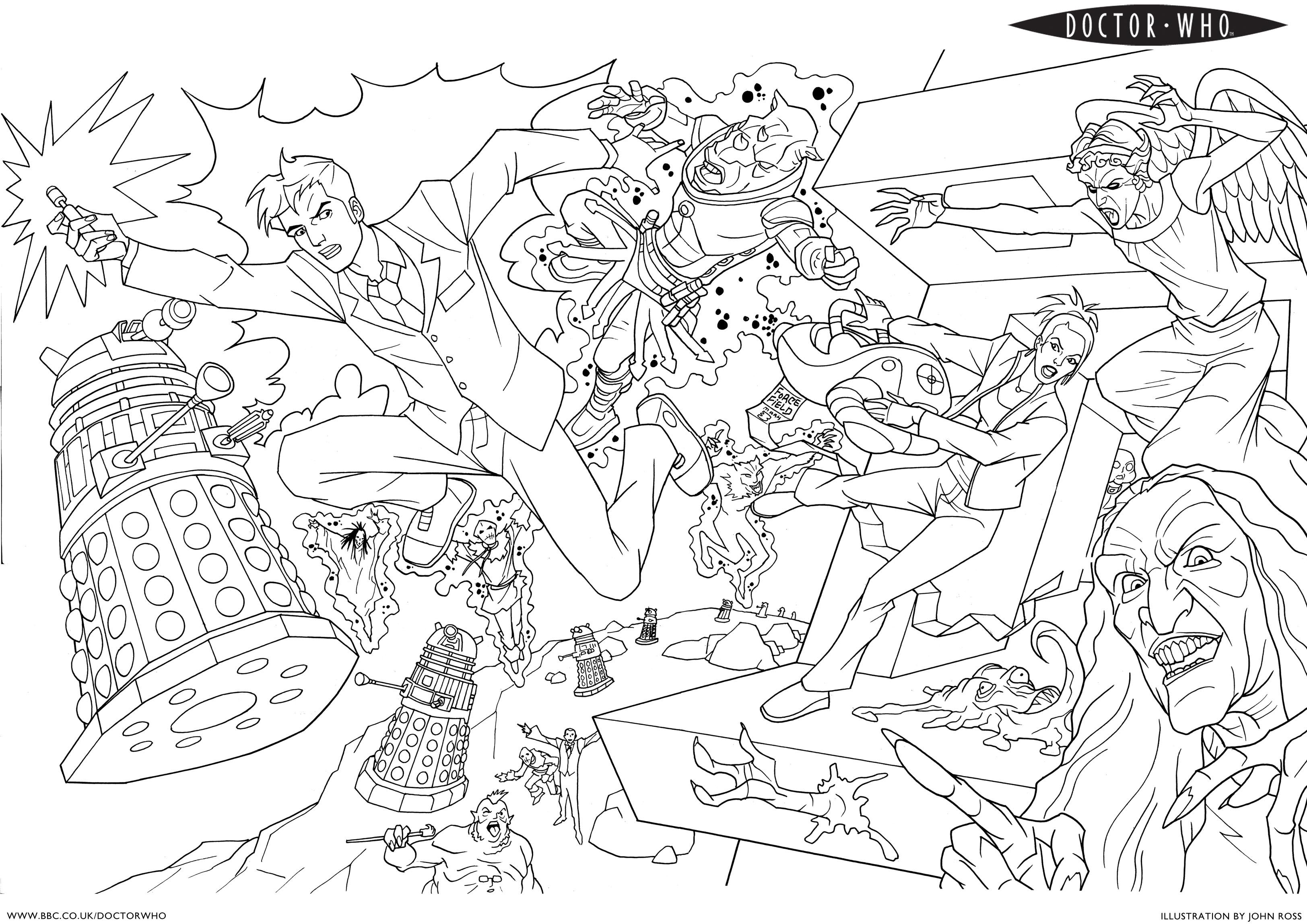 This is a photo of Inventive Dr Who Coloring Book