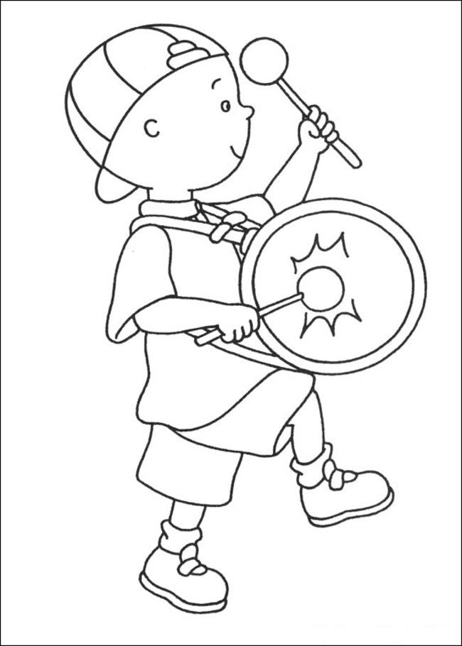Caillou Coloring Pages Online - Picture 6 – Free Printable Caillou