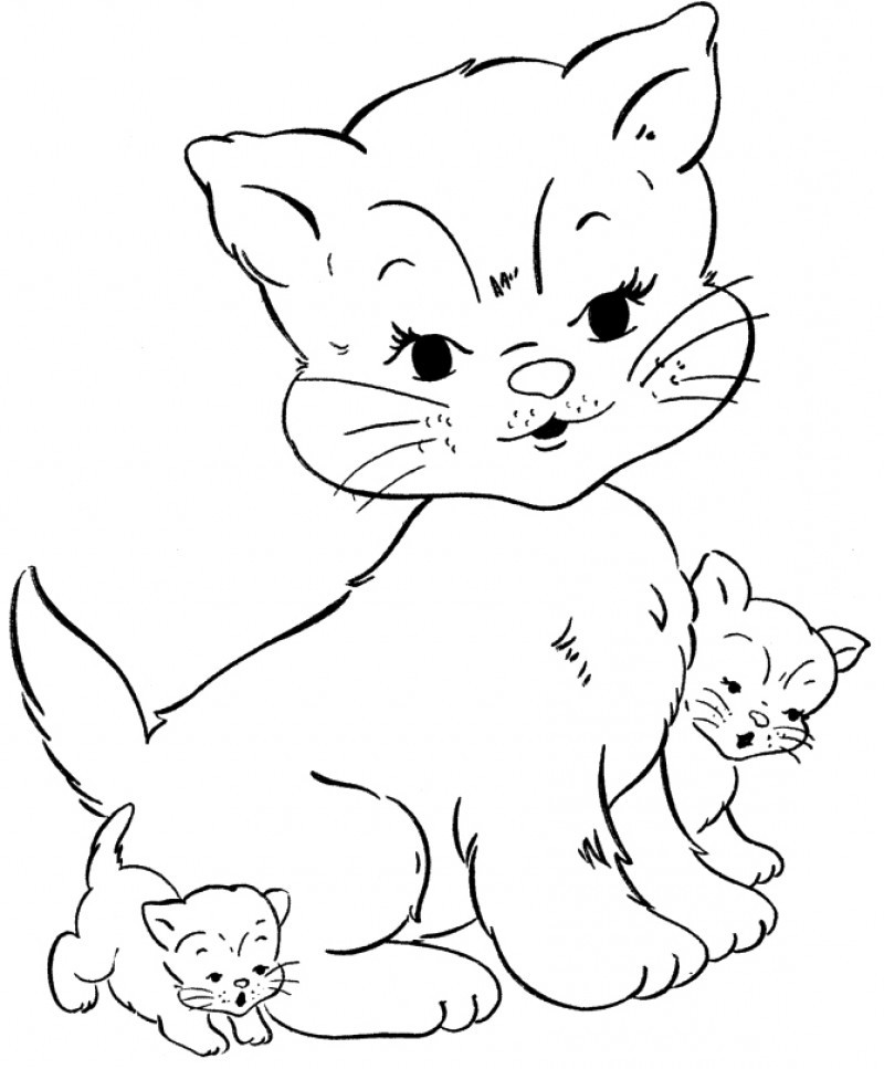Three Cat Unique Coloring Page Kids Colouring Pages Az Unique Coloring Pages