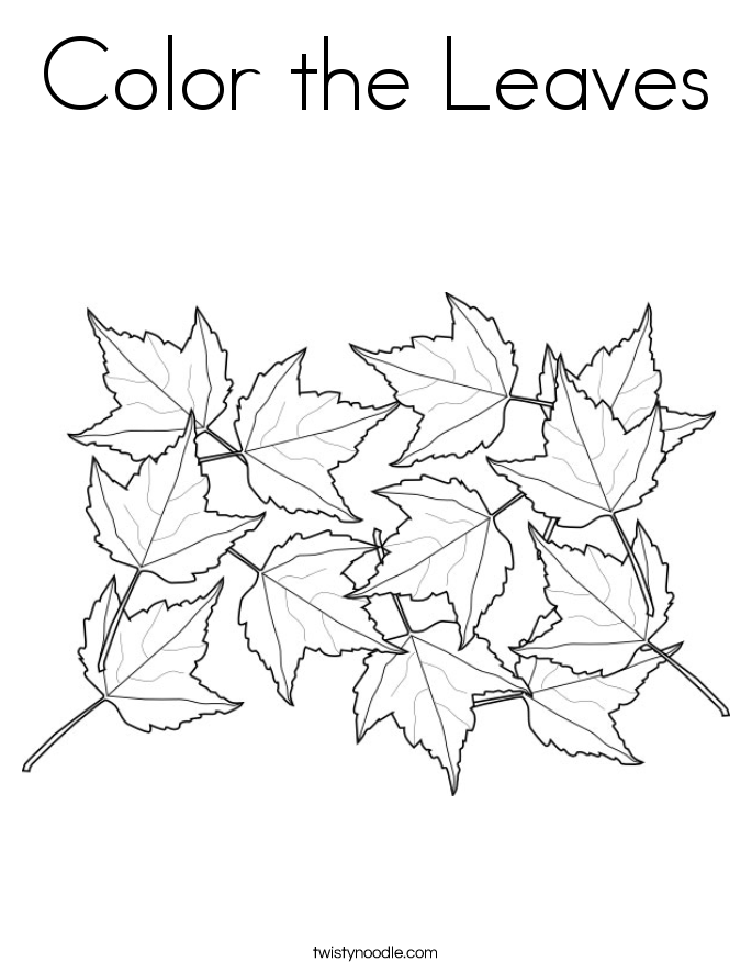Leaf Coloring Pages Pdf : Maple leaf coloring page printable home