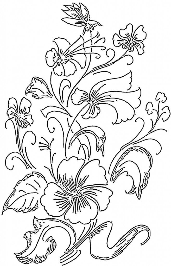 Dragonfly Flowers Tattoo Stained Glass Coloring Page Loving