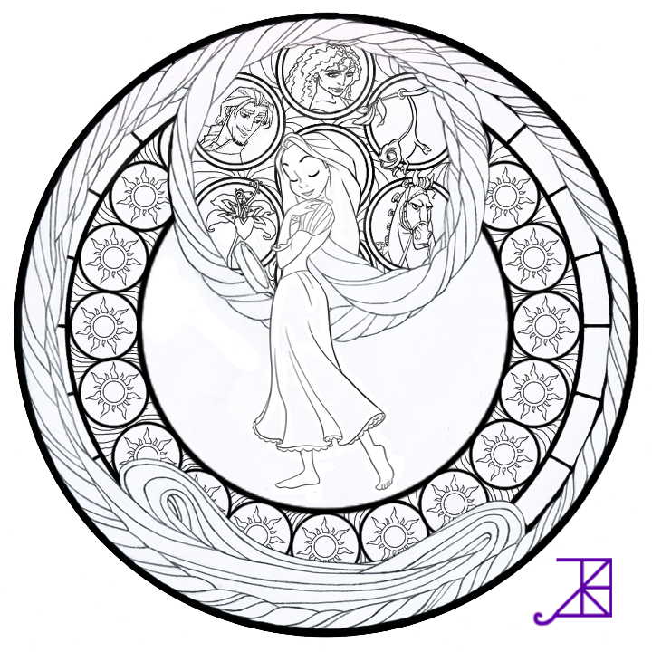 detailed stained glass coloring pages - photo#18