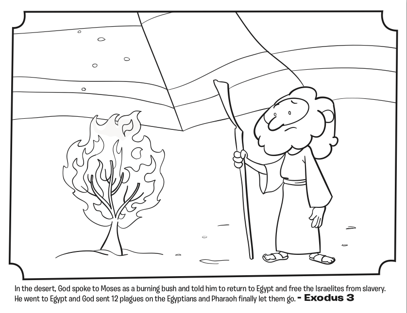 coloring pages of burning bush - photo#11