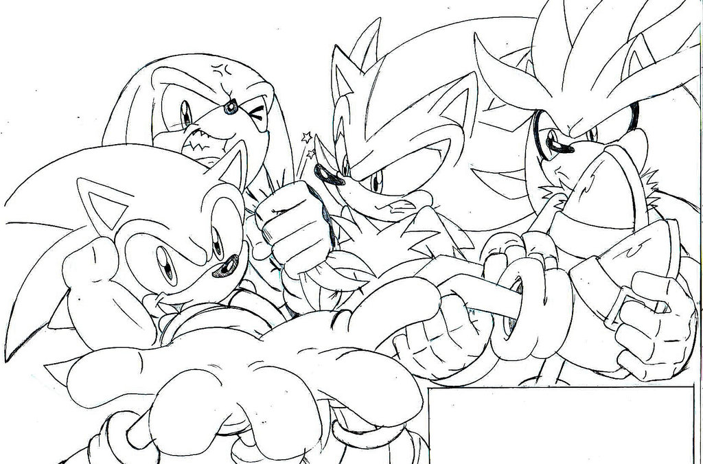 sonic coloring pages shadow - photo#34