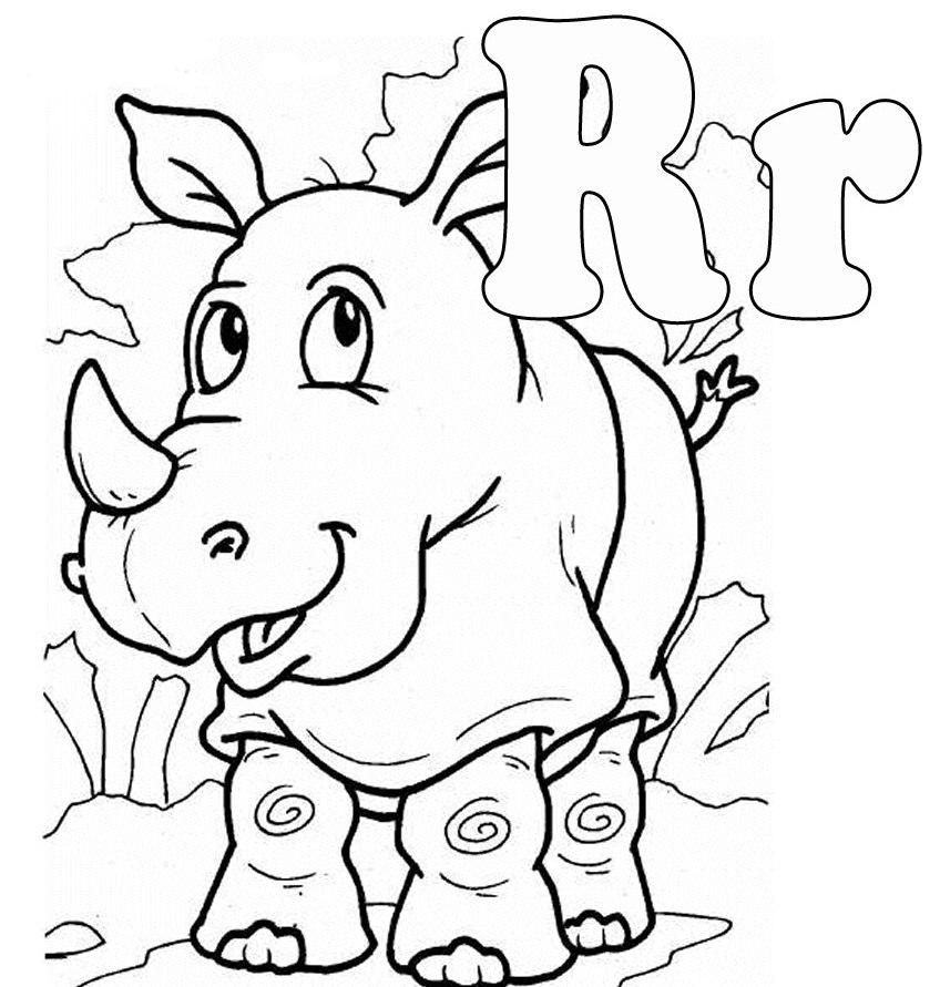 r coloring pages - photo #19