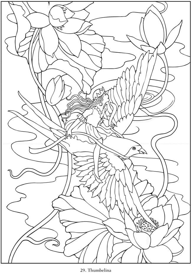 fairy tale coloring book pages - photo#29