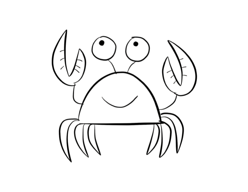 crab coloring page colordad - Crab Coloring Pages