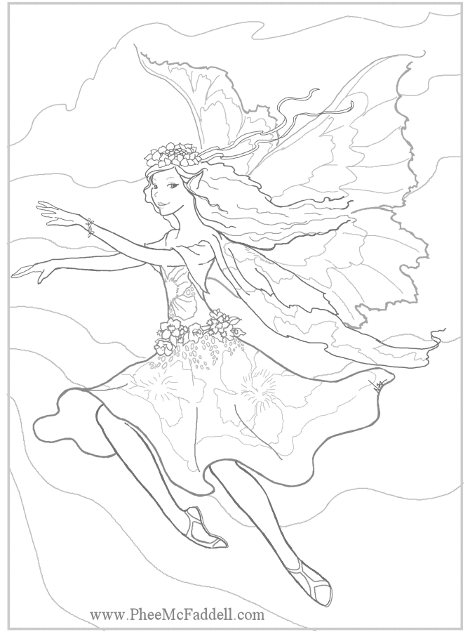Amy Brown Coloring Pages Coloring Home