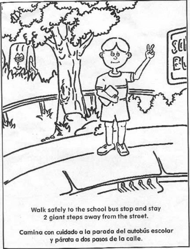coloring pages for kids safety - photo#16
