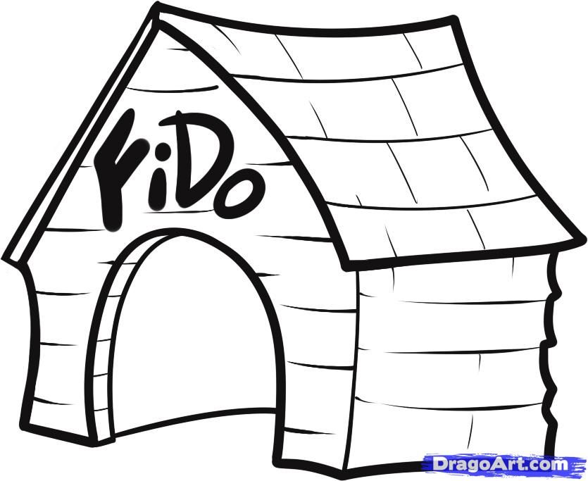 Cartoon Picture Of A House Coloring
