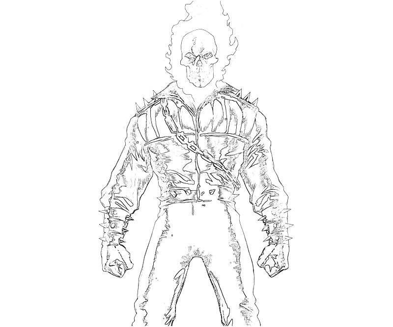 Ghost Rider Coloring Page Coloring Home