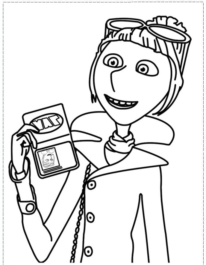 Lucy Shows Identity Coloring Pages.jpg - Despicable Me Coloring