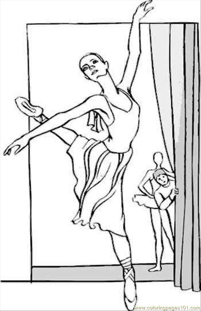 Ballerina Coloring Pages Pdf : Ballerina coloring page free pages home