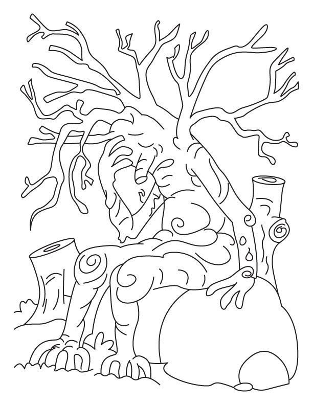 Save tree save earth coloring pages | Download Free Save tree save