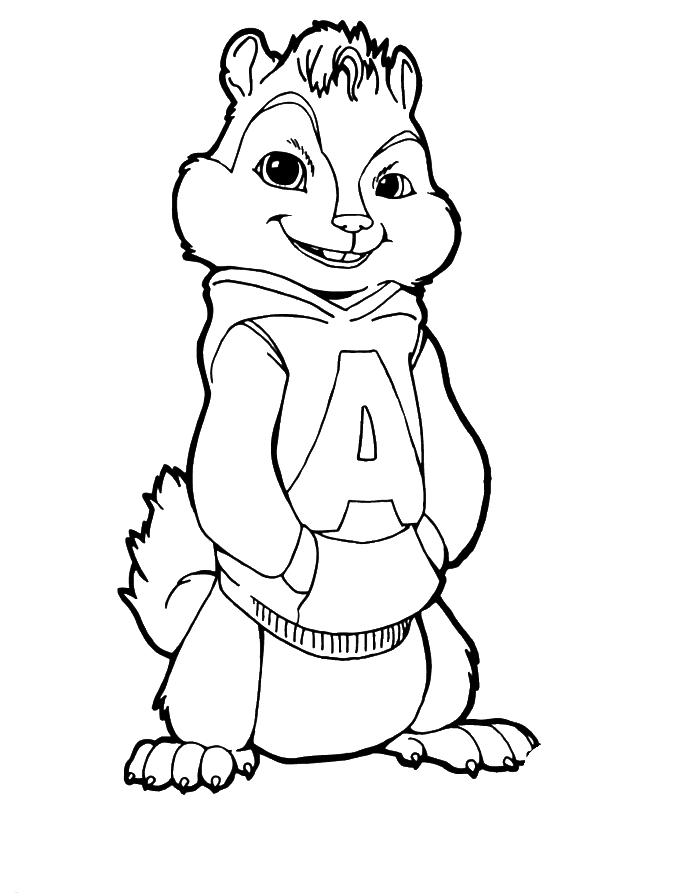 chipmunks coloring pages printable - photo#14