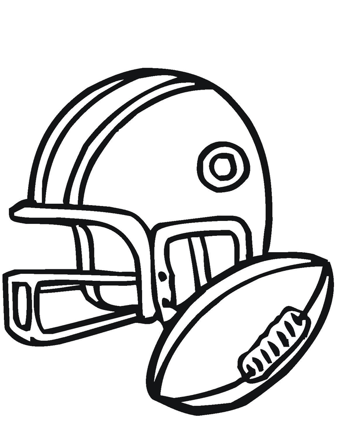 coloring pages football helmets