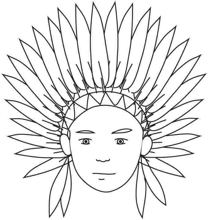 Indian coloring pages free ~ Indian Headdress Coloring Page - Coloring Home