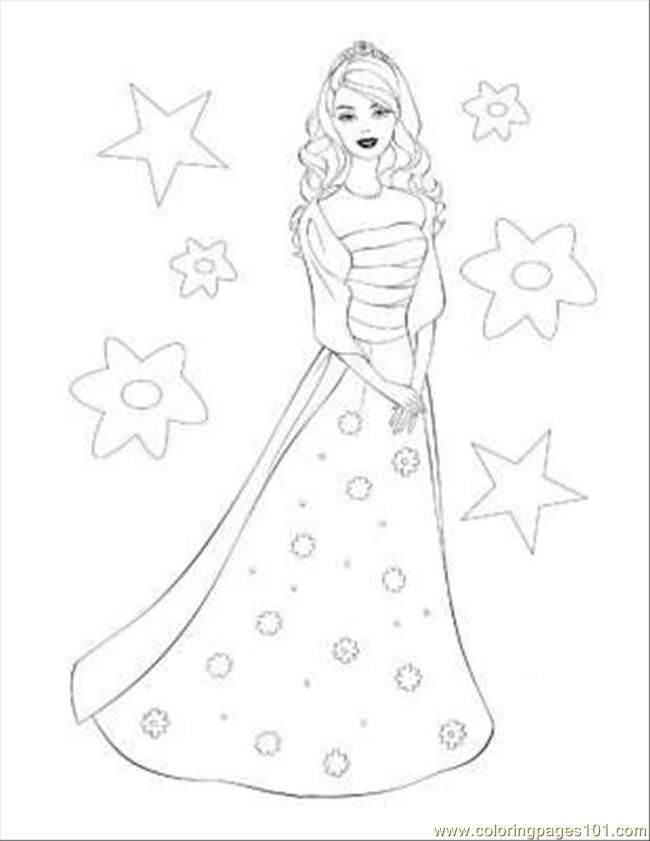 Free Online Colouring Pages Of Barbie