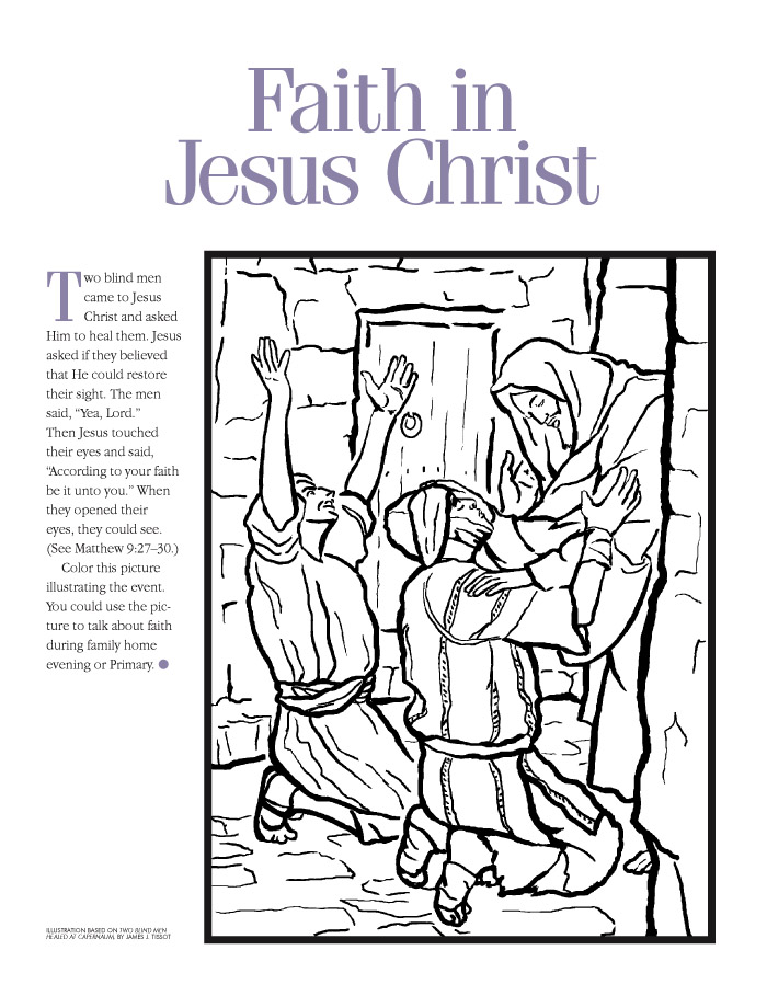 LDS Coloring Pages | Jesus Coloring Pages