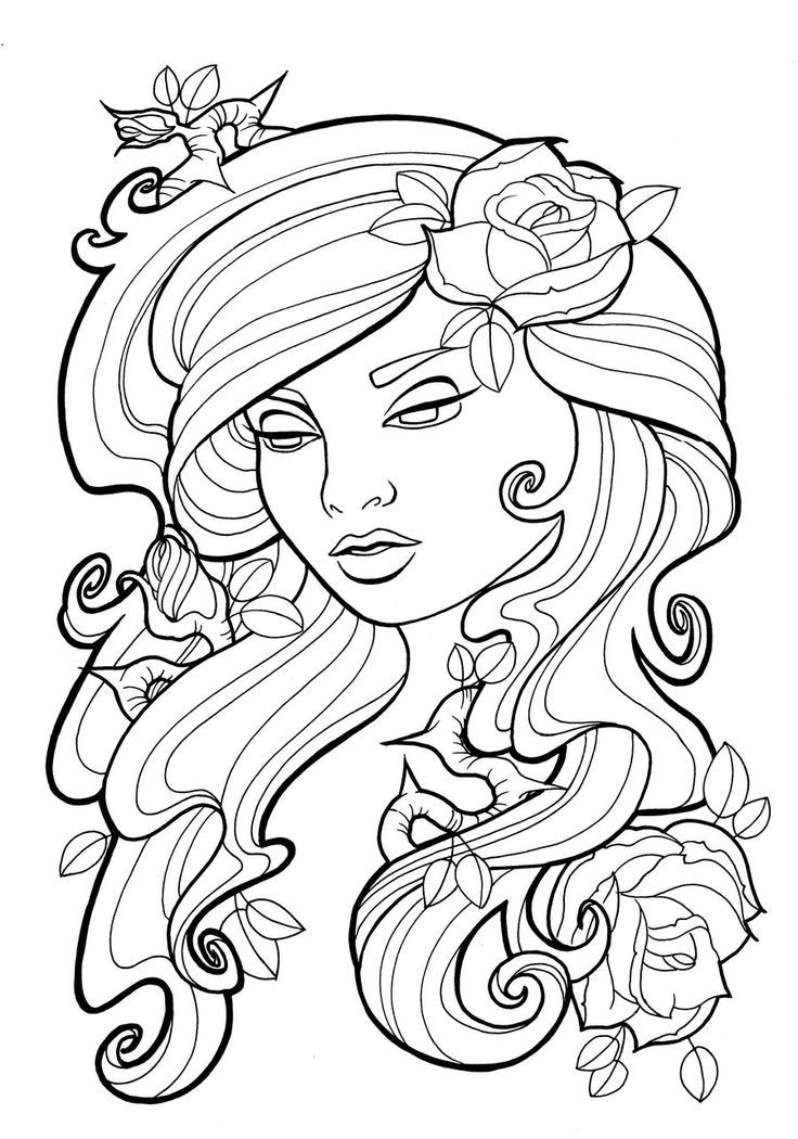 Art nouveau coloring pages coloring home for Tattoo art coloring pages