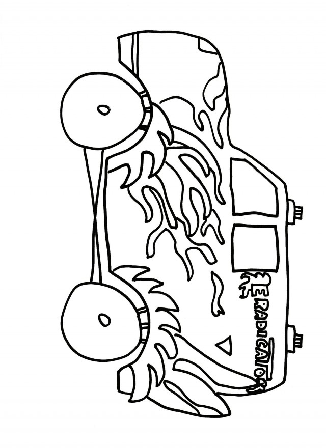 Son uva digger coloring pages coloring pages for Grave digger coloring pages