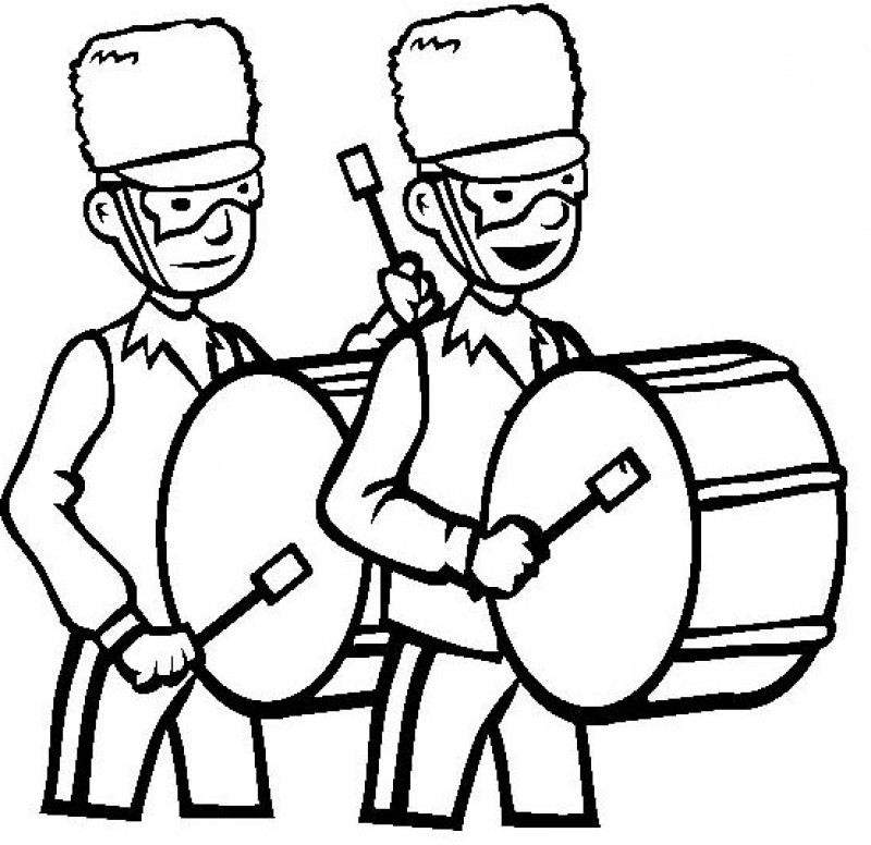 Marching band free coloring pages for Band coloring pages
