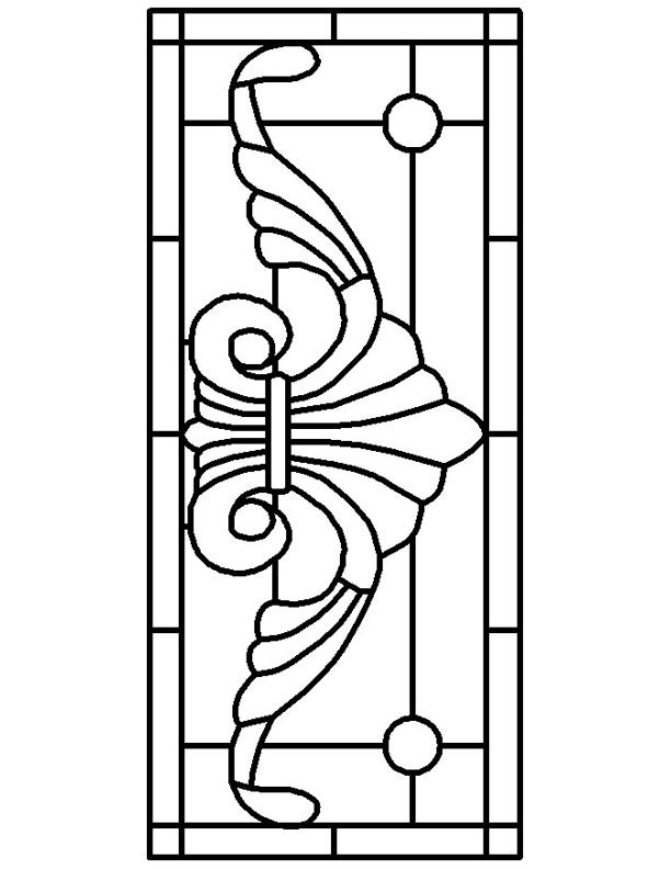 Stained glass window template coloring home for Pages for windows