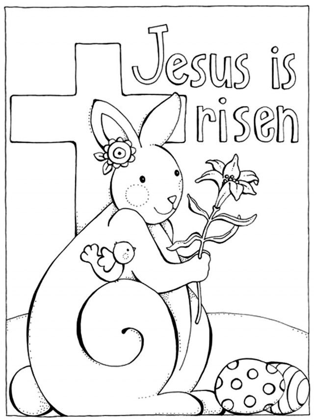 It is a picture of Soft jesus is alive coloring page