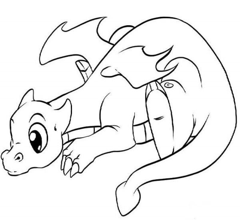 Cute Dragon Coloring Page Cute Dragon Coloring Pages