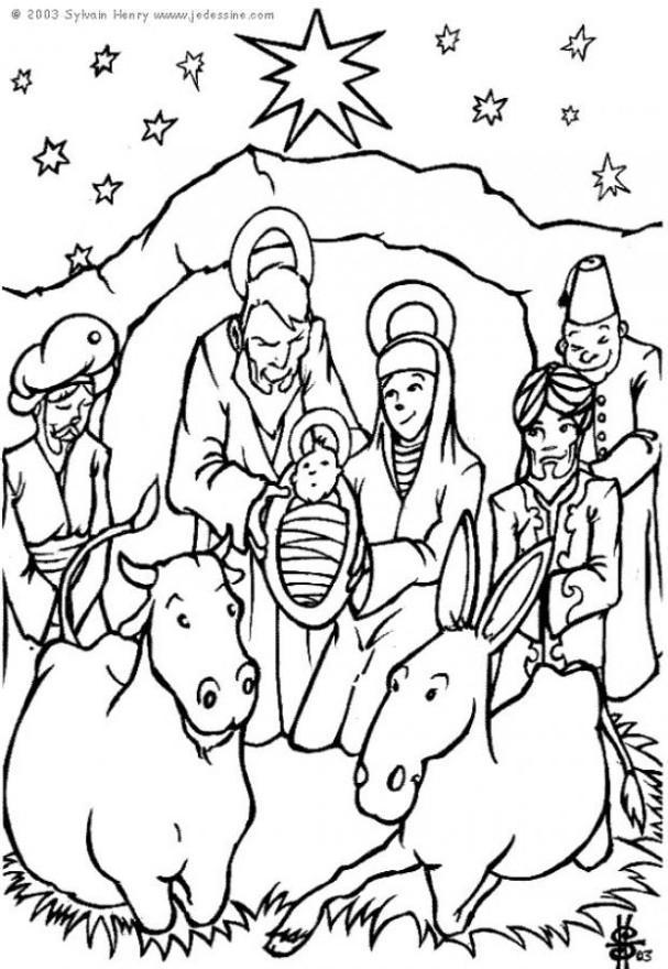 Coloring Pages Christmas Nativity - Coloring Home