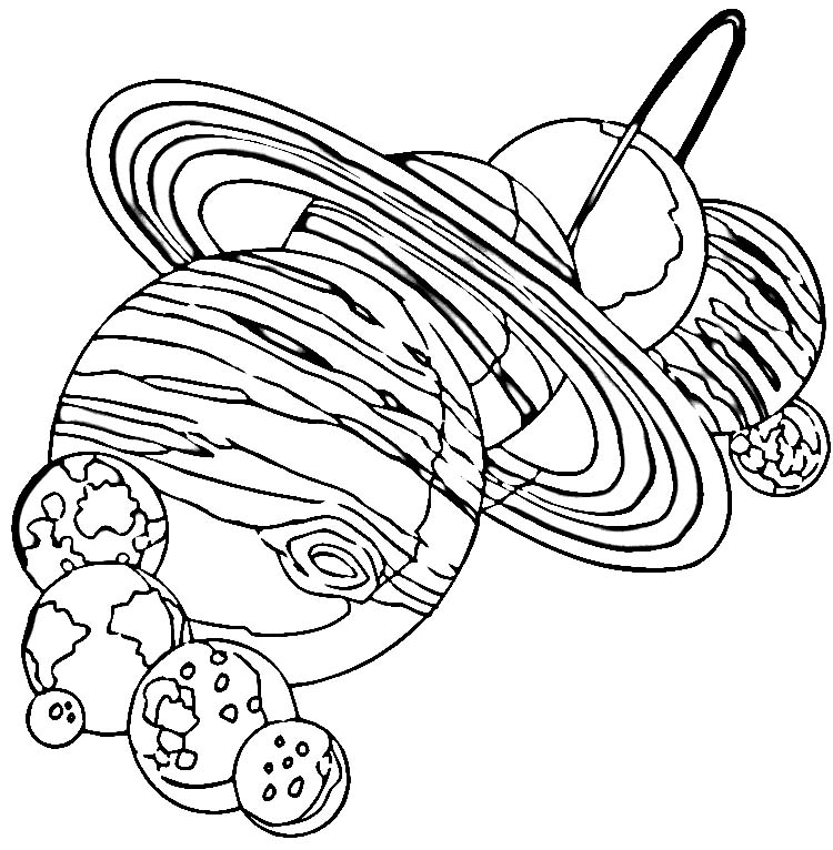 Solar System Coloring Sheets For Preschool Coloring Pages