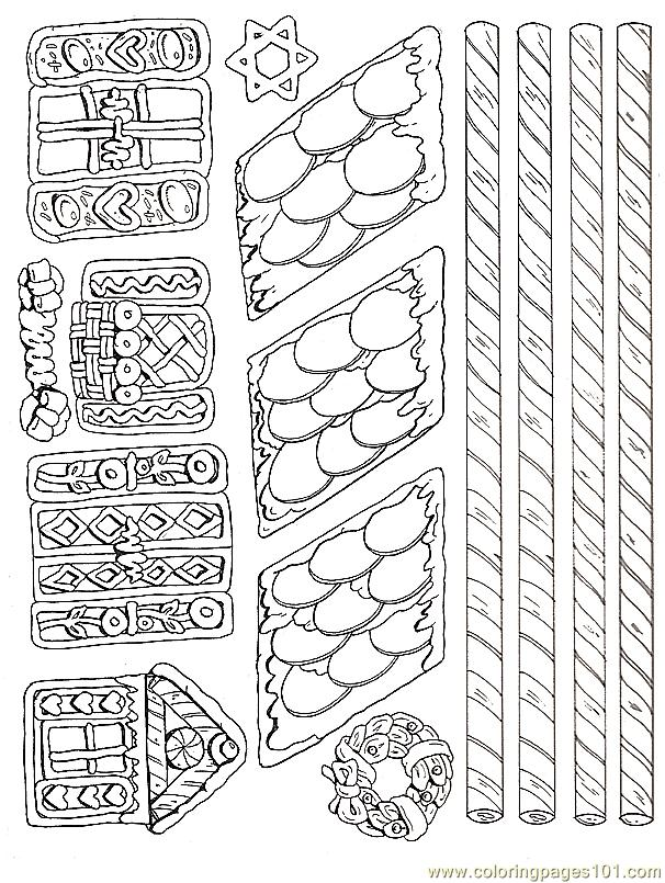 Gingerbread House Coloring Pages Printable #2