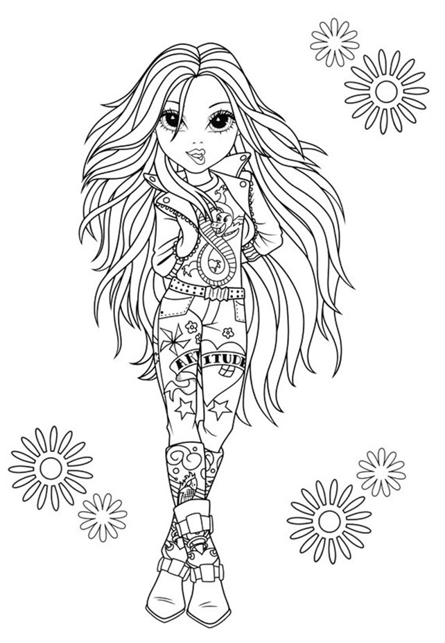 Moxie Girlz Az Coloring Pages