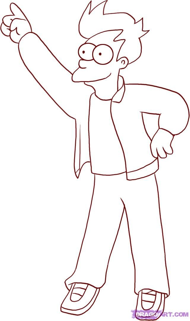 Futurama Coloring Pages Coloring Home Futurama Coloring Pages
